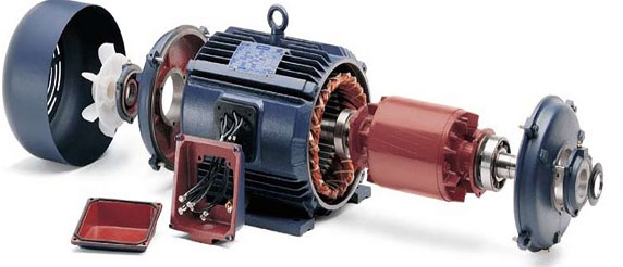 اجزا موتور الکتریکی AC