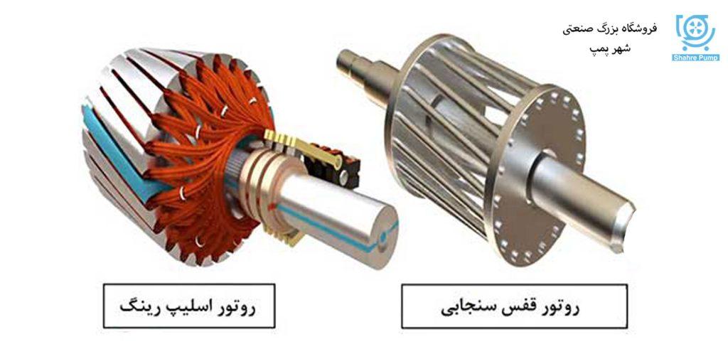 تفاوت موتور اسلیپ رینگ و قفس سنجابی
